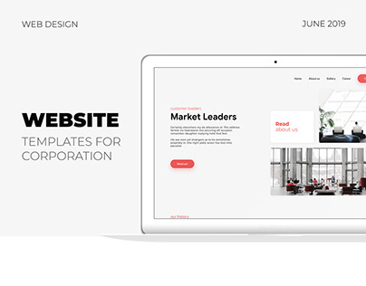 Website template for corporation