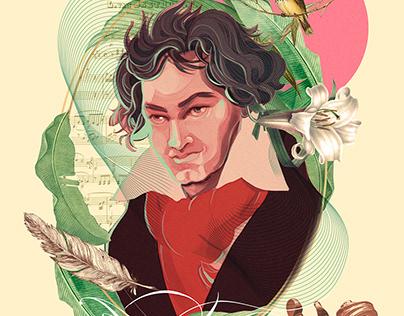 Ludwig van Beethoven 250 years poster