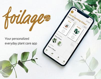 Foilage • UI/UX Plant Care Mobile App Design