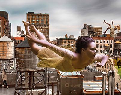 Levitation (Photomontage)