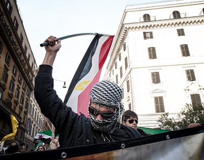 Sirian demonstration against Hassad in Rome