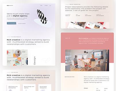 Digital and Creative Agency UI Design