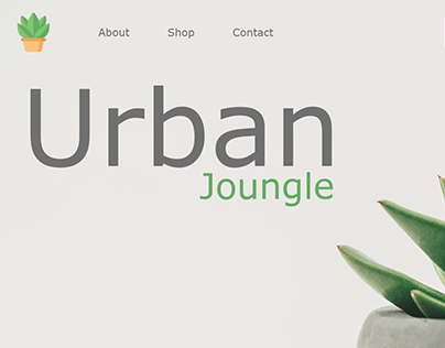 Urban Joungle webshop design for indoor plants
