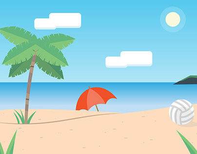 Beach Time! - Motion Graphics Project
