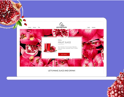 Pomegrand ( Natural Juice website concept )