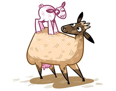 Sözcü Koyunların Sözcük Oyunları /Children's Book