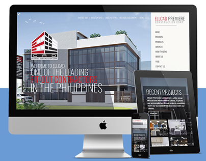 WEB DESIGN: ELLCAD Premiere Fit-Outs Contractor