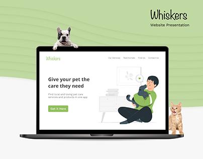Website Presentation - Whiskers