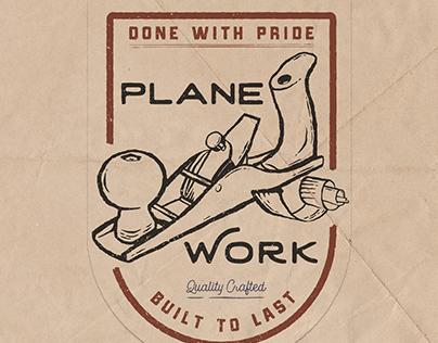 Plane Work Apparel Illustration