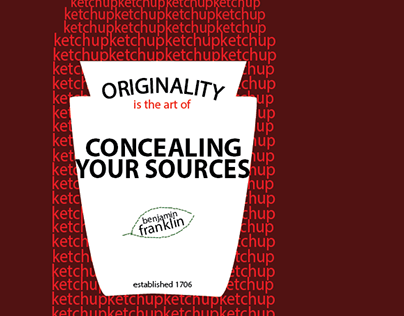 Concealing Your Sources - Typography Poster