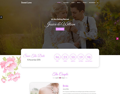 Lavender - Wedding Event, Planner & Coming Soon HTML Te