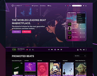 "Music Website ""Airbit"""