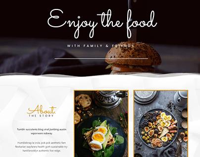 landing page _ restaurant landing _ bakery _ WordPress
