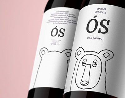 Ós & Conill wine packaging