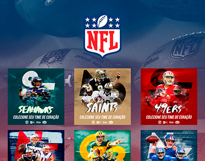 NFL - Colecione Seu Time