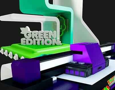 3D Illustrations Green & UV Edition