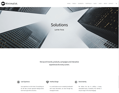 Services Page - Minimalist WordPress Theme