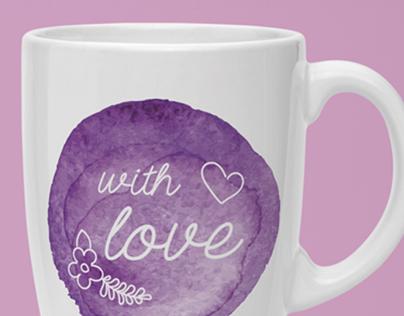 Mugs with watercolor print