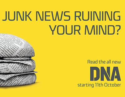 Artwork DNA Newspaper  - New Junkies Ad Campaign