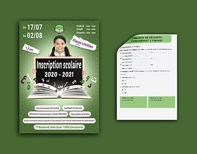 registration form & advertising