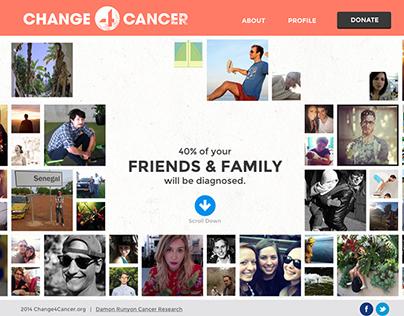 Change4Cancer Microsite Design