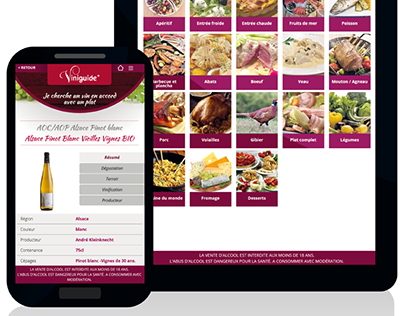 Viniguide - Instore Web Application