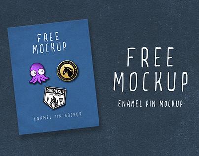 Free Enamel Pin Mockup