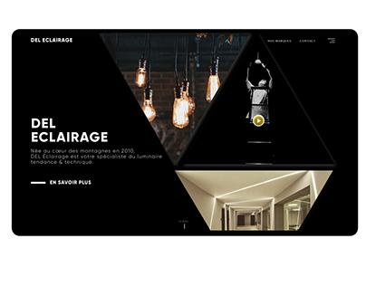 "Landing Page - "" Del Eclairage """