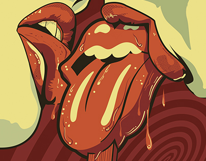 The ROLLING STONES Sudamerican Concert Poster