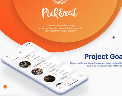 Pick&eat Mobile App