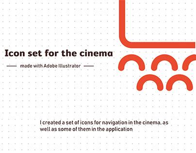 Icon set for the cinema