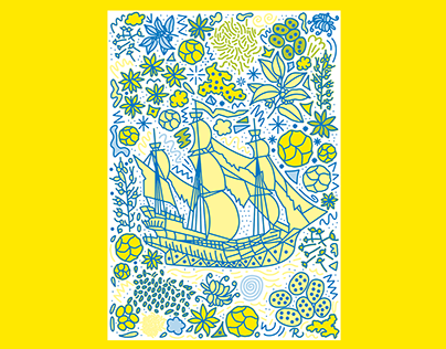 The Flying Dutchman Risograph Print