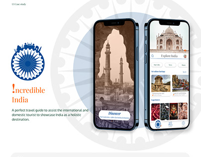 Incredible India - A perfect travel guide | UI study