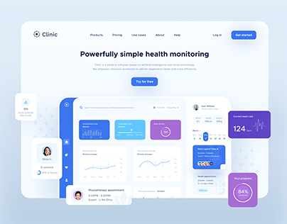 Freebie | Clinic Dashboard UI elements