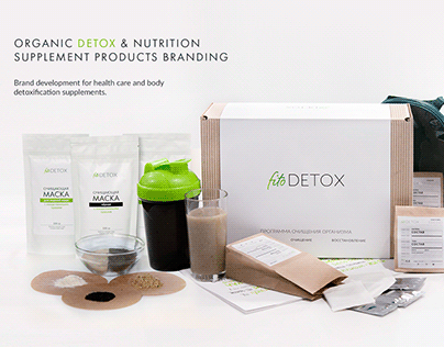 Organic Detox & Nutrition Supplement Products Branding