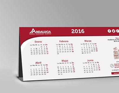Calendar 2016 - Mudanzas Andalucía.