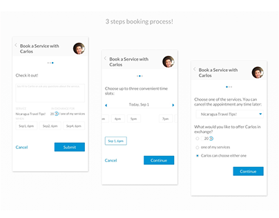 UX/UI of a deal process for IOS.Concept