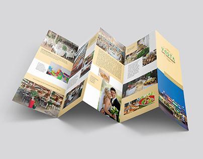 Vesta Restaurant - Akordiyon Broşür Tasarımı