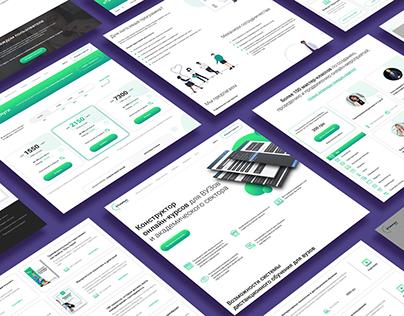 Website Design for Etutorium Webinar / LMS