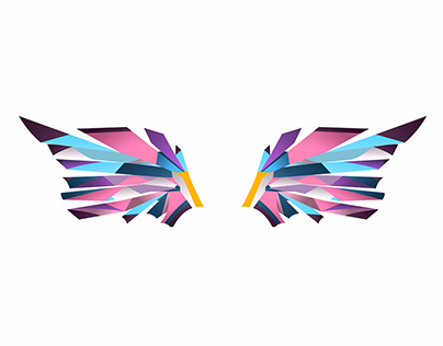 Fly High Abstract Vector Illustration