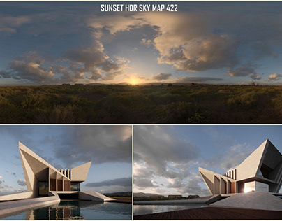 Sunset HDR SKY ARCHVIZ