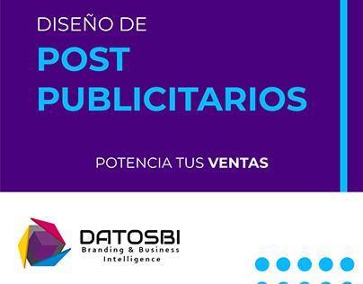DATOSBI Diseño de post publicitarios para redes