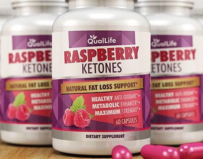 Raspberry Ketones Label Design
