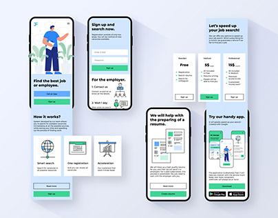 JobFinder - Landing Page UI/UX