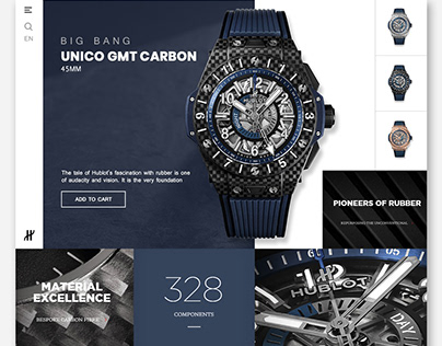 Hublot Watch Product Page | Design Concept