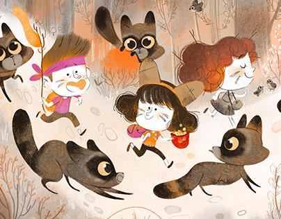 Raccoons trip!