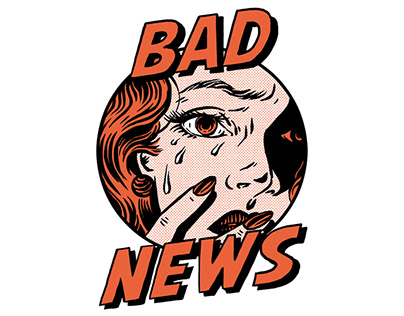 BAD NEWS TSHIRT DESIGN