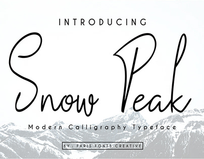 Snow Peak Font