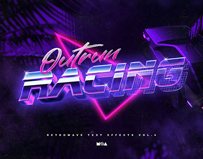 80`s Retro Text Effects vol.4 Synthwave Retrowave