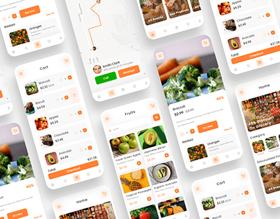 Grocery Delivery App UI